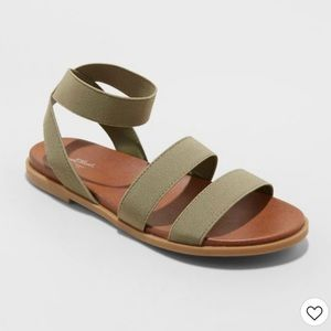 Universal thread olive green strappy sandals.
